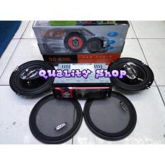 PALING MURAH paket tape mobil AVA bluetooh plus Speaker coaxial 6 inch ADS