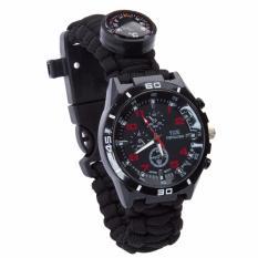 Spesifikasi Paracord Gelang Watch Outdoor Multifungsi Survival Kit Keselamatan Gear Penyelamatan Alat With Kompas Api Starter Pengikis Whistle Paracord Tali Thermometer Dan Harga