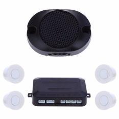 Parking Sensor Kit 6 Warna Mobil 4 Sensor untuk Semua Mobil Bantuan Balik Radar Monitor Sistem (Putih) -Intl