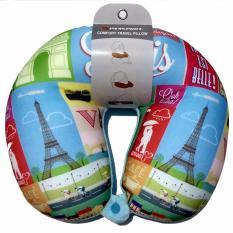 Jual Passport Bantal Travel Leher Paris Satu Set