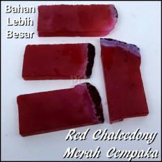PASTI MURAH !!! NATURAL RED CHALCEDONY MERAH CEMPAKA MERAH MANTAP BAHAN ISTIMEWAH 50 Gram !!!