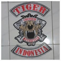 Patch Emblem Bordir Biker Tiger Indonesia Bet ETG1