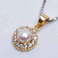 Pearl & Pearl WGP 094 - Kalung Perak Emas dan Mutiara Asli - Garansi 6 bulan