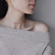【Peiy 】Natural Mutiara Kalung Wanita 14 K Piring dengan Emas untuk Mengunci Tulang Rantai Kualitas Brief Murah Hati daftar Kalung Pendek Gaya-Internasional