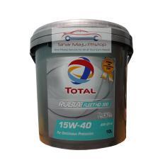 PELUMAS OLI MESIN DIESEL Bus Truk Genset Mesin Industri - TOTAL RUBIA FLEET HD 300 15W-40 - Galon 10 Liter ORIGINAL SETARA PERTAMINA MEDITRAN MADE IN SINGAPORE