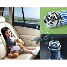 Pemurni Udara Mobil Car Mini Auto Fresh Air Purifier Oxygen Bar Ionizer Cleaner - BIRU