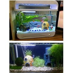 Toko Pentaq 1 Aquarium Resin Mini Pineapple House Lansekap Ikan Tankornament Dekorasi Murah Tiongkok