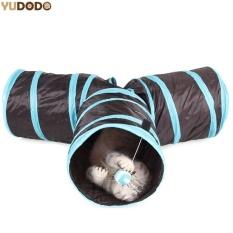 PentaQ Divertido Y Forma 3 Agujeros Plegable Mascota Gato T Nel Consounding Bola De Case Entrenamiento Indoor Juguetes Para Gatos