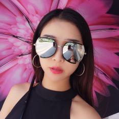 Beli Kacamata Hitam Bulat Wanita Gaya Korea Cicilan