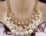 Harga Perhiasan Eropa Dan Amerika Flash Berlian Mutiara Kalung Oem Terbaik