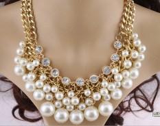 Jual Perhiasan Eropa Dan Amerika Flash Berlian Mutiara Kalung Lengkap