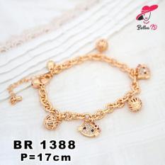 Perhiasan Gelang Lapis Emas 18K Karakter hello Kitty R 1388