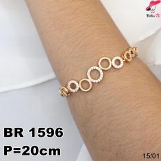 Jual Perhiasan Gelang Xuping Permata Lapis Emas 18K R 1596 Branded Original