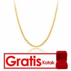 Perhiasan Kalung Emas Tiaria 24 Karat 99.9% Emas Asli 2.3 Gram - Ahronc