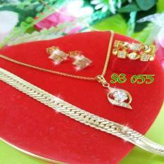 Perhiasan Set Gelang Rantai Lapis Emas Liontin Permata Sg055 By Joyshopaksesoris.
