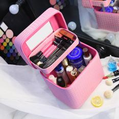 Persegi Kecil Sederhana Besar Dandan Kotak Penyimpanan Produk Tas Makeup