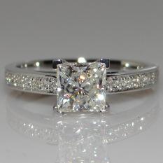 Persegi S925 putri sterling silver persegi cincin berlian cincin berlian