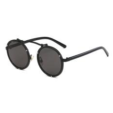 Harga Kepribadian Round Sunglasses Laki Laki Dan Perempuan Friends Couple Sunglasses Bingkai Hitam Black Grey Yang Bagus
