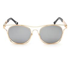 Kepribadian Kacamata Hitam Keren Kacamata dengan Hollow Out Frames (Golden + Silver Mercury)