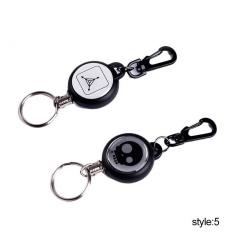 Dipersonalisasi EDC Key Rings Home Outdoor Peralatan Retractable Key Gesper Springback Super Nyaman Berkemah Gantungan Kunci-Internasional