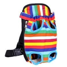 Pet Bag Colorful Anjing Kaki Di Depan Tas Handsfree Sling Carrier Bag Shoulder Carry Tote Style: Warna Kanvas Ukuran: L-Intl