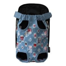 Pet Bag Colorful Anjing Kaki Di Depan Tas Handsfree Sling Carrier Bag Shoulder Carry Tote Style: Fashion Koboi Ukuran: XL-Intl