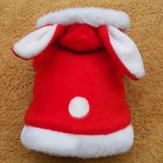 Pet coat rabbit with dog clothes - Red XL - intl