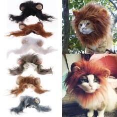 Pet Costume Lion Mane Wig for Dog Cat Halloween Clothes Festival Dress up - intl
