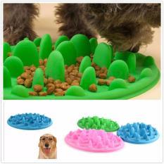 Jual Anjing Peliharaan Kucing Satunya Lambat Pengisi Anti Slip No Gulp Silicone Feeding Air Bowl Feed Branded Original
