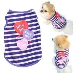 Hewan Peliharaan Pakaian Kucing Anjing Musim Semi Kemeja Musim Panas Pakaian Kecil Rompi T Shirt M-Intl By Roachshop.