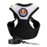 Spek Pet Dog Collars Puppy Leash Vest Mesh Breathe Adjustable Harnes Black M Intl