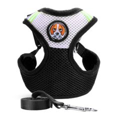 Diskon Pet Dog Collars Puppy Leash Vest Mesh Breathe Adjustable Harnes Black M Intl Tiongkok