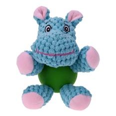 Anti-bahan Kimia Katun Tali Karet Suara Toy Hippo Bentuk Mengunyah Mainan-Internasional