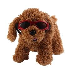 Peliharaan Anjing Dilipat Lipat Anak Anjing Matahari Kacamata UV Perlindungan Kacamata Hitam (Merah)-Internasional