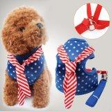 Review Tentang Pet Dog Harness Vest Rope Star Militer Uniformchest Strap Set Kalung Memimpin Biru M Intl