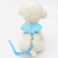 Pet Dogs Cats Leashes Collars Set Adjustable Harness Pets Accessories(Size:XS) -