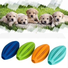 Pet Dogs Chewing Rubber Toys Oval Ball For Biting Molar Clean Teeth - intl