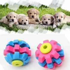 Pet Dogs Chewing Rubber Toys Round Ball For Biting Molar Clean Teeth - intl