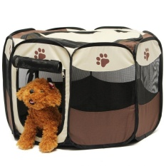 Pet Rumah Pagar Dog Bed Kennel Play Pen Puppy Soft PlaypenExerciseRun Cage Folding Crate-Intl