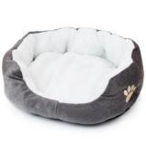 Jual Beli Kandang Hewan Peliharaan Anjing Tempat Tidur Hangat Nyaman Fleece Bed Grey Tiongkok