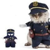Pet Kostum Polisi Anjing Jeans Clothes Cat Lucu Apperal Ukuran 2 Ukuran 2 Internasional Oem Diskon 30
