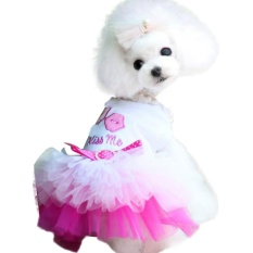 Pet Anjing Kecil Anak Anjing Kucing Renda Rok Putri Tutu Gaun Pakaian Kostum-Intl