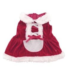 Pet Supplies Merah Anjing Peliharaan Natal Pakaian Gaun Pakaian Kostum Mantel Pakaian Ukuran-L-Intl