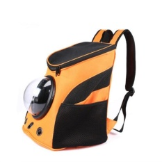 Pet Supplies Space Capsule Shaped Bag Pet Carrier Breathable Backpack Pet Dog Outside Travel Bag Portable Bag Cat Bags ( Orange ) 35X31X25CM