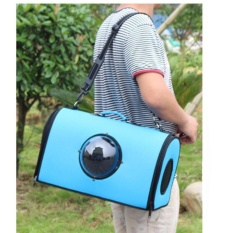 Pet Supplies Space Capsule Shaped Bag Pet Carrier Breathable Shoulder Bag Pet Dog Outside Travel Bag Portable Bag Cat Bags ( Blue ) 37X24X27CM