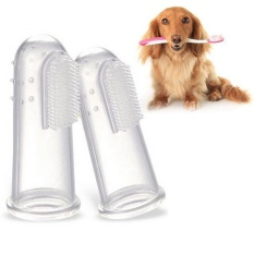 Pet Sikat Gigi silikon Cair Finger Toothbrush 3 Pcs Lembut Anti-oksidasi Brush-Intl