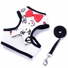 Pet Rompi gaun malam butterfly simpul dada punggung pakaian traksi Rope-White Anchor bagian S