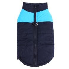 Pet Vest Winter Pet Dog Clothes Waterproof Dog Coat Jacket(Blue)-3XL - intl