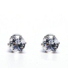 Phoenix B2C 1 Pasang Unisex Pria Wanita Magnet Clip On Cubic Zirkonia Anting No Piercing Jewelry