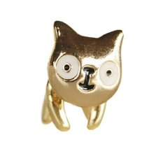 Phoenix B2C 1 PC Wanita Perhiasan Indah Animal Cute Muzzy Cat Anting-Anting Giwang Hadiah Bergaya (Emas)